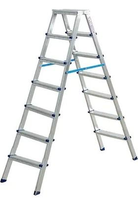 Asvera Çift Çıkışlı Profil Merdiven 7+7 Basamaklı