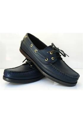 Castle Black Deri Casual Günlük Erkek Ayakkabı Lacivert