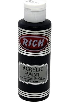 Rich Akrilik Boya 130 Cc Siyah