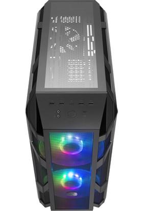 Cooler Master MasterCase H500M Tempered Glass 2x200mm Adreslenebilir RGB Led Fanlı Super MidTower Kasa (RC-MCM-H500M-IHNN-S00)