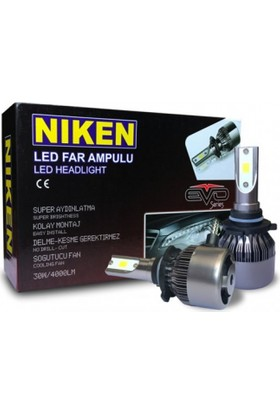 Niken Led Xenon Set Ampul H4 6500K Uzun Kısa