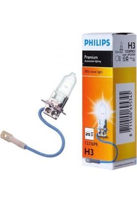 Philips Ampul H3 55W 30% Fazla Işık Takım