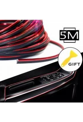 GD24 Kırmızı Fitilli Torpido Şerit Araç İçi İp Şerit Nikelajlı Parlak Görünüm 5 Metre