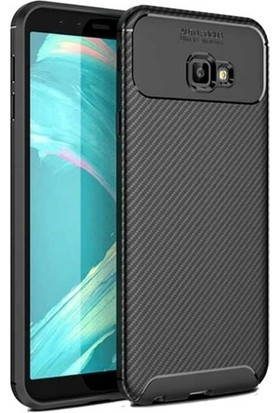 Casestore Samsung Galaxy J4 Plus Ultra Slim Fit Karbon Desenli Silikon Kılıf + Nano Ekran Koruyucu