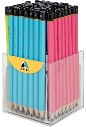 Adel Matte Canlı Renkler Kurşun Kalem 2B 4 Renk Yl 2062180000 72 Li (1 Paket 72 Adet)