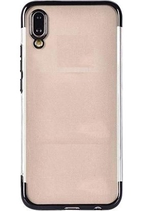 KNY Samsung Galaxy A10 Kılıf 4 Köşe Renkli Şeffaf Laser Silikon + Cam Ekran Koruyucu