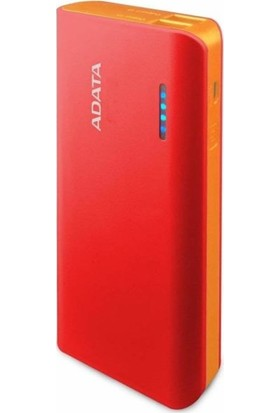 Adata 2.1A/1A - 2 USB 10000Mah Powerbank Kırmızı
