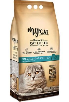 My Cat Bentonit Kalın Taneli Marsilya Sabun Kokulu Kedi Kumu 5 lt