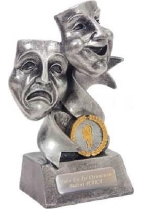 MNK İsme Özel Tiyatro Temalı Maske Dekoratif Biblo ve Ödül