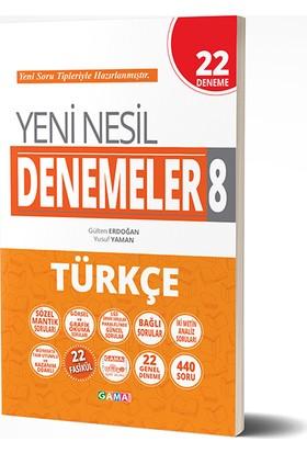 Gama 8. Sınıf LGS Türkçe Yeni Nesil 22 Deneme