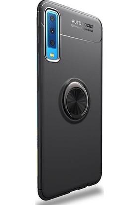 Case 4U Samsung Galaxy A50 Kılıf Yüzüklü Darbeye Dayanıklı Arka Kapak - Ravel Siyah