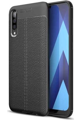 Case 4U Samsung Galaxy A50 Kılıf Darbeye Dayanıklı Niss Arka Kapak Siyah