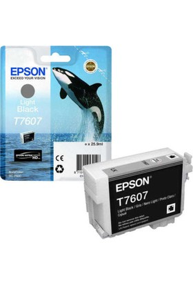 Epson T7607-C13T76074010 Açık Siyah Kartuş