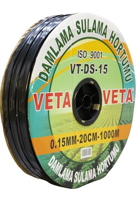 Veta-Damlama Sulama Hortumu 0.15Mm-20Cm-1000M