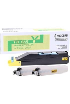 Kyocera Mita TK-865 Sarı Toner Taskalfa 250ci- 300ci