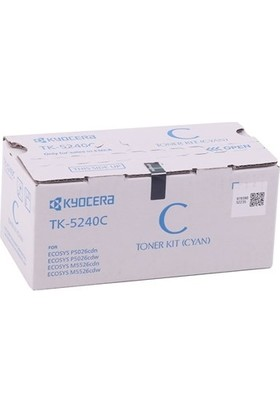 Kyocera Mita TK-5240 Mavi Toner M5026-M5526 MC-3326 1T02R7CNL0