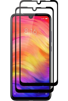 Case 4U Xiaomi Redmi Note 7 5D Kavisli Temperli Cam Ekran Koruyucu Film - Siyah