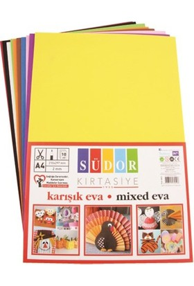 Südor 50*70 Yapışkanlı Eva 10'lu Paket Karışık Renk