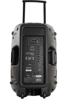 """Mikado Md-99Kp 15"""" 2 Adet Uhf Mikrofonlu 130W Bluetooth+Usb+Sd+Fm Destekli 38Cm Kablosuz Toplantı Anfisi"""