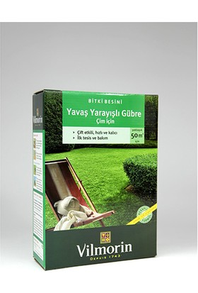 Vilmorin Yavaş Yarayışlı Çim Gübresi 20-5-8 1,5 Kg