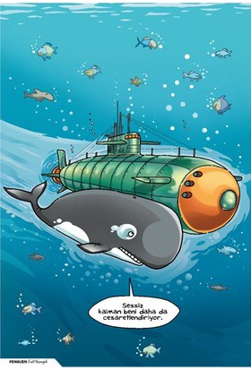 Penguen Poster: Balina ve Denizaltı