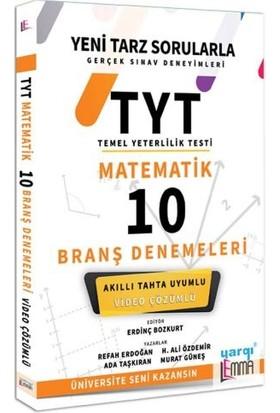 Yargı Lemma Yayınları TYT Matematik Video Çözümlü 10 Branş Denemeleri - Refah Erdoğan