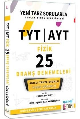 Yargı Lemma Yayınları TYT AYT Fizik Video Çözümlü 25 Branş Denemeleri - Ufuk Taştan