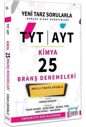 Yargı Lemma Yayınları TYT AYT Kimya Video Çözümlü 25 Branş Denemeleri - Tekin Uzunöz