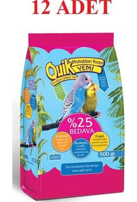 Quik Muhabbet Kuşu Yemi 500 Gr - 12'Li