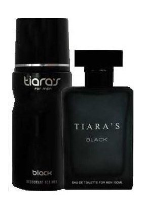 Tiaras Black Edt 100 Ml + 150 Ml Deodorant