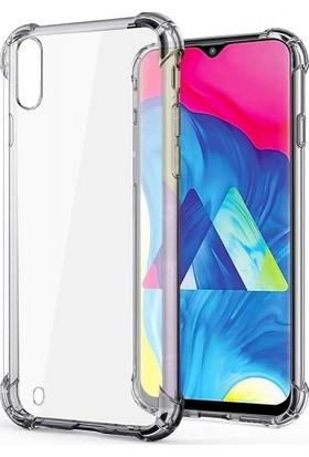 Zengin Çarşım Samsung Galaxy M10 Ultra İnce Şeffaf Airbag Anti Şok Silikon Kılıf - Şeffaf