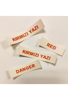 Foogy Dymo LT Muadili Kağıt Şerit Etiket Beyaz -Kırmızı