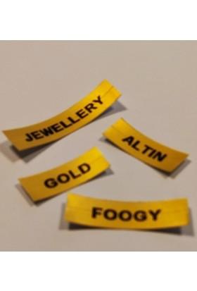 Foogy Dymo LT Muadili Plastic Şerit Etiket Gold