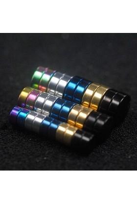 VipBT Siyah Mıknatıslı Deliksiz 8 mm Titanyum Çelik Manyetik Erkek Küpe