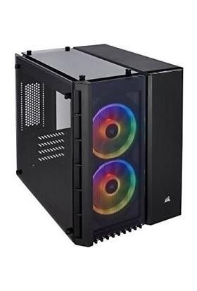 Corsair CC-9011135-WW 280X RGB mATX Temperli Cam Bilgisayar Kasası Siyah