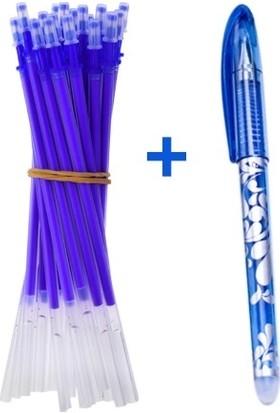 İşkur Makine Isı İle Uçan Silinebilen Refill Kalem İçi Ve Kalem Mavi 11 Adet