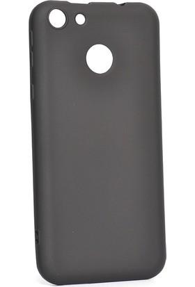 Happyshop Vestel Venüs E4 Kılıf Ultra İnce Mat Silikon Siyah + Cam Ekran Koruyucu