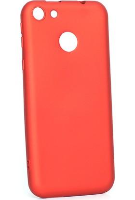 Happyshop Vestel Venüs E4 Kılıf Ultra İnce Mat Silikon Kırmızı + Nano Cam Ekran Koruyucu