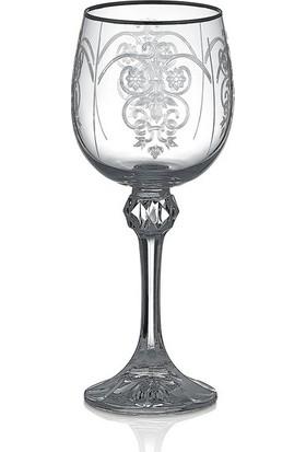 Cemile Helen Platınum K40428 6 lı Beyaz Şarap Kadehi