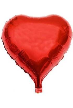 Tahtakale Toptancısı Folyo Balon Kalpli Kırmızı 10 Adet