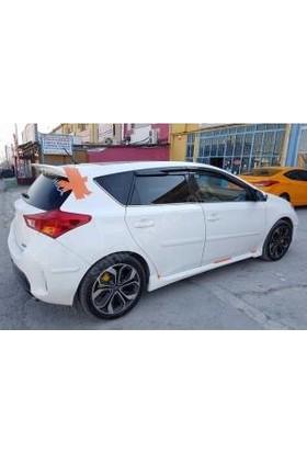 Güneşli Garaj Toyota Auris Boyasız Yan Marşpiyeller Ve Boyasız Spoiler