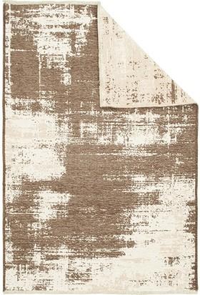 Je Veux Home Machka Çift Taraflı Şönil Kilim 2850 Vizon-Beyaz - 160 x 230 cm