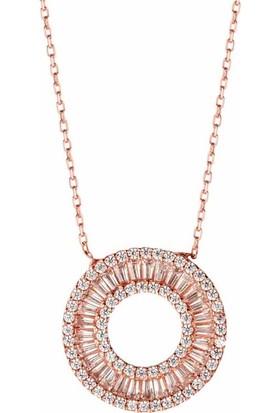 Afrodit Silver Halka Tasarım Gümüş Kadın Kolye