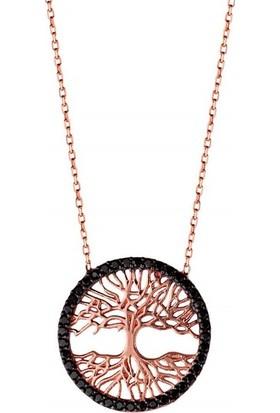 Afrodit Silver Tuba Ağacı Tasarım Gümüş Kadın Kolye