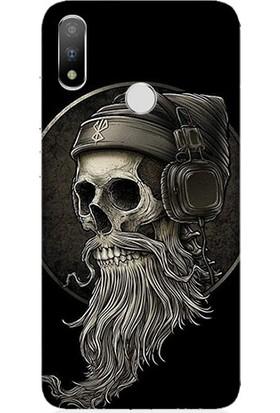 Teknomeg Casper Via A3 Plus Hip Hop Skull Dj Desenli Tasarım Silikon Kılıf