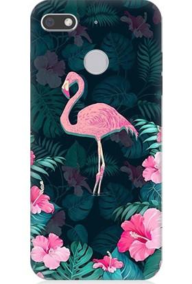 Teknomeg General Mobile Discovery Gm8 Go Pembe Flamingo Desenli Tasarım Silikon Kılıf
