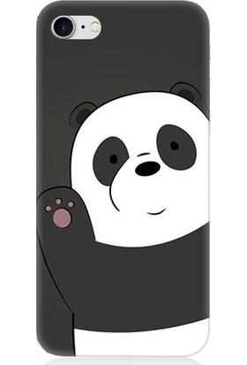 Teknomeg Apple iPhone 7 Sevimli Panda Desenli Tasarım Silikon Kılıf