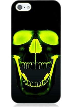 Teknomeg Apple iPhone 5S Kurukafa Desenli Tasarım Silikon Kılıf