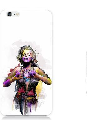Teknomeg Apple iPhone 6S Marilyn Monroe Kalp Desenli Tasarım Silikon Kılıf