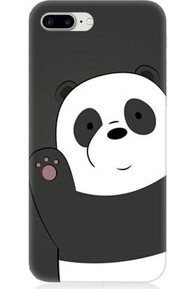 Teknomeg Apple iPhone 7 Plus Sevimli Panda Desenli Tasarım Silikon Kılıf